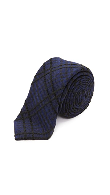 Alexander Olch The Jack Raised Plaid Cotton Tie
