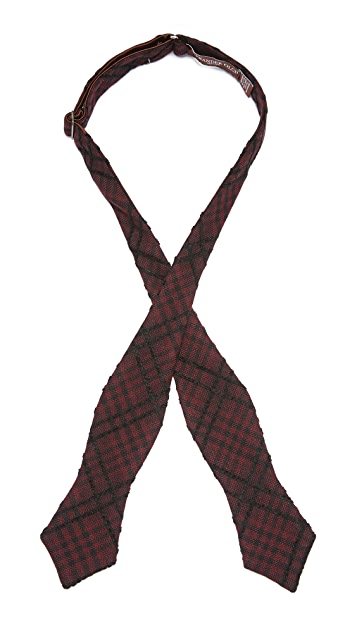 Alexander Olch The Jack Raised Plaid Cotton Bowtie