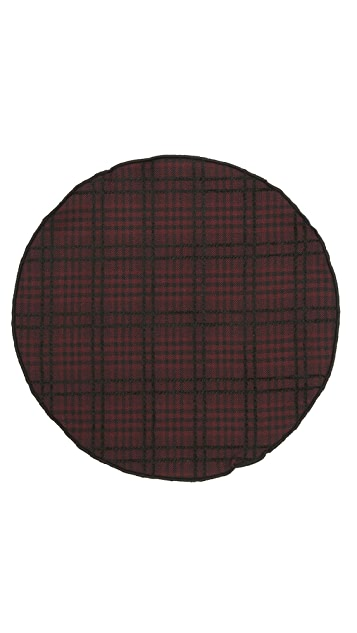 Alexander Olch The Jack Raised Plaid Cotton Pocket Round