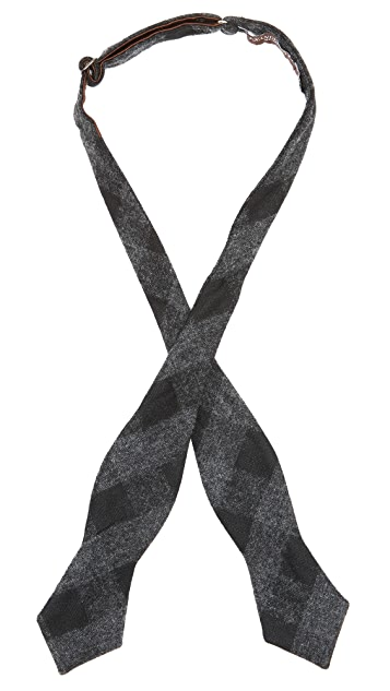 Alexander Olch The Tuxedo Wool Gingham Bow Tie