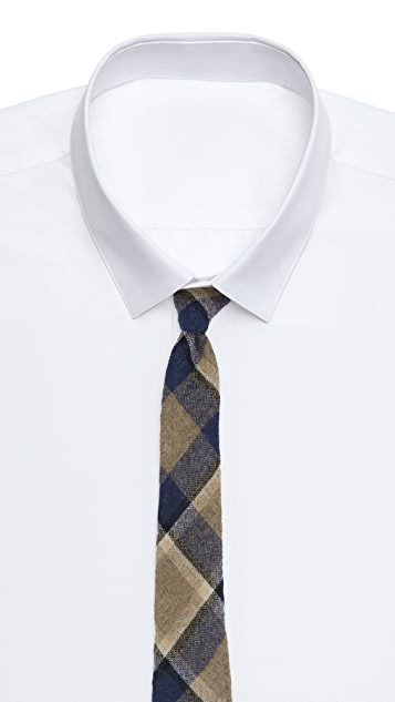 Alexander Olch The Station Wool Plaid Tie