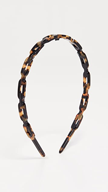 Alexandre de Paris Link Headband - Brown Tort