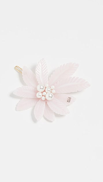 Alexandre de Paris Imitation Pearl Tropical Barrette - Folk Baby
