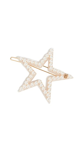 Alexandre de Paris Imitation Pearl Star Barrette