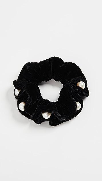 Alexandre de Paris 黑色珍珠发带
