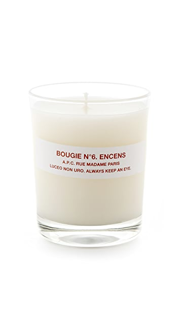 A.P.C. Bougie No. 6 Encens Scented Candle