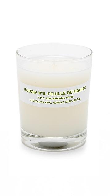 A.P.C. Bougie No. 5 Feuille de Figuier Scented Candle