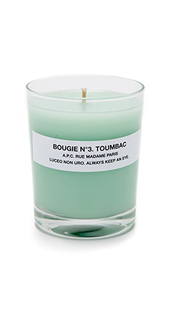 A.P.C. Bougie No. 3 Toumbac Scented Candle