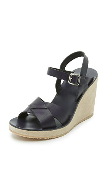 A.P.C. Juliette Wedge Sandals