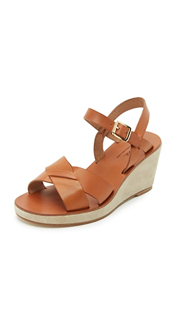 A.P.C. Classic Wedge Sandals
