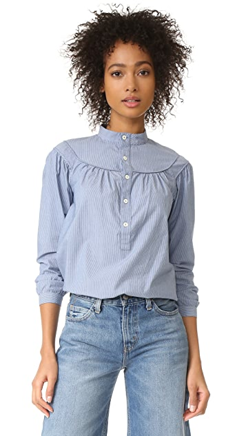 A.P.C. Classic Ingalls Striped Shirt