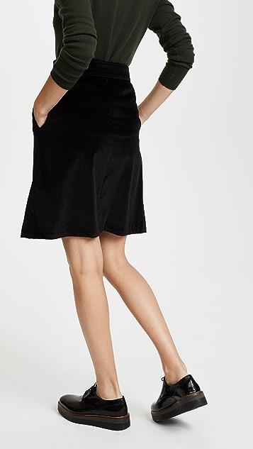 A.P.C. Angy Velvet Skirt