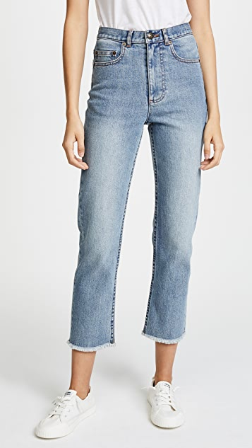 A.P.C. Standard Jeans with Fringe