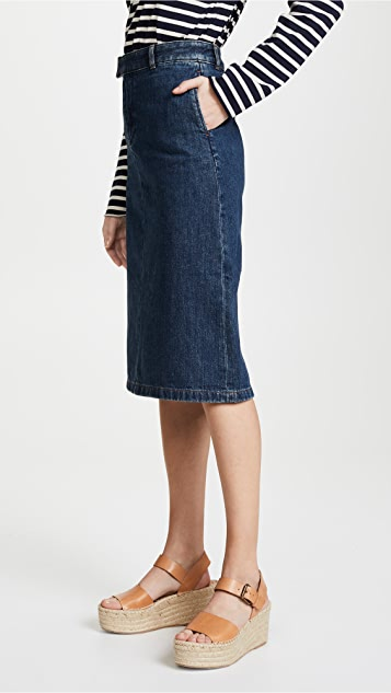 A.P.C. Constance Denim Skirt