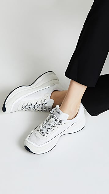 A.P.C. Running Mesh Sneakers