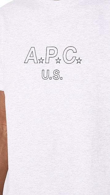 A.P.C. US Star Tee