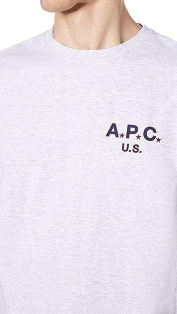 A.P.C. Flag Tee