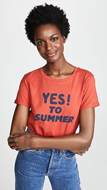 A.P.C. Футболка с надписью «Yes To Summer»