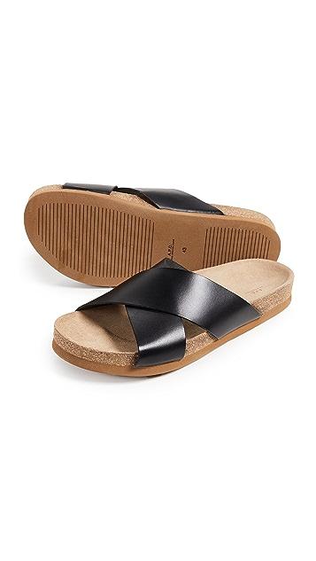 A.P.C. Colas Cuir Lisse Sandals