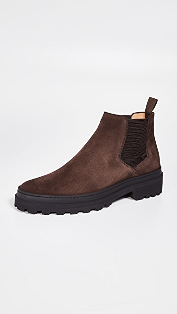 A.P.C. Marcus Lug Sole Suede Boots