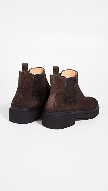 A.P.C. Marcus Lug Sole Suede Boots