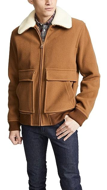 A.P.C. Blouson Bronze Wool Jacket