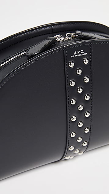 A.P.C. Studded Half Moon Bag