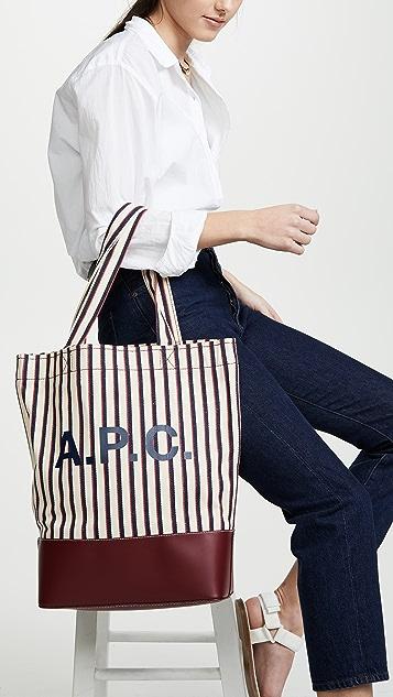 A.P.C. Объемная сумка с короткими ручками Axelle