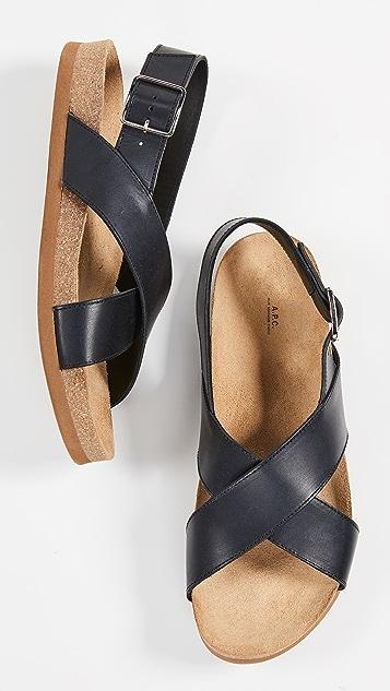A.P.C. Tiago Sandals