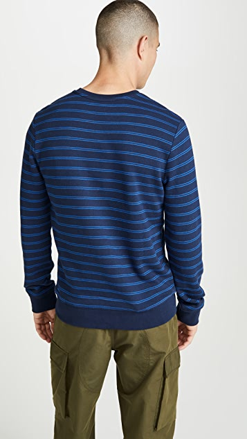 A.P.C. Striped Pullover Sweatshirt