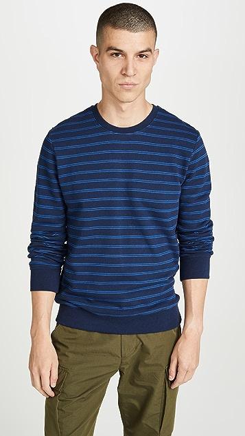 A.P.C. Striped Pullover Sweatshirt
