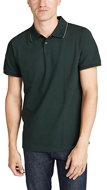 A.P.C. Short Sleeve Pique Polo Shirt