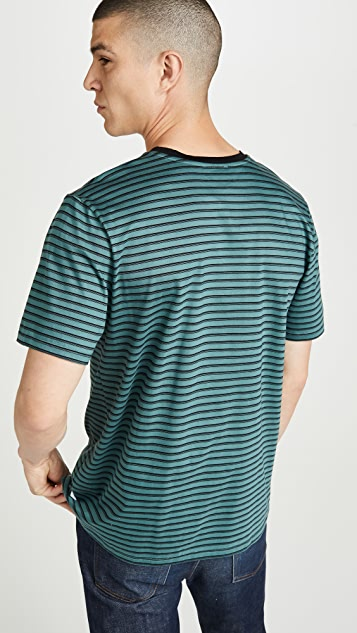A.P.C. Short Sleeve Striped T-Shirt