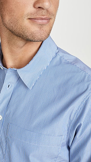 A.P.C. Long Sleeve Stripe Popover Shirt