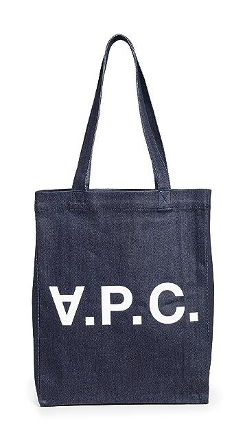 A.P.C. Объемная сумка с короткими ручками Laure