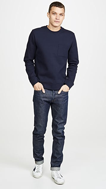 A.P.C. Long Sleeve Crew Neck Yogi Sweatshirt