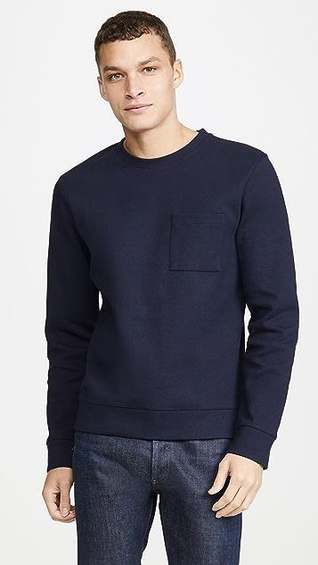 A.P.C. Long Sleeve Crew Neck Yogi Sweatshirt