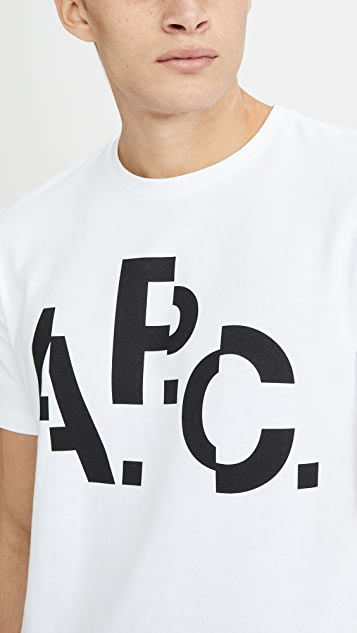 A.P.C. Decale Short Sleeve Tee Shirt