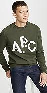 A.P.C. Long Sleeve Crew Neck Decale Sweatshirt