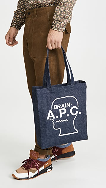A.P.C. Brain Dead Tote Bag