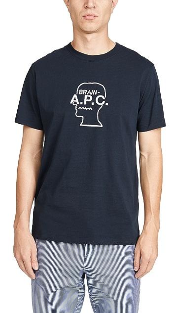 A.P.C. x Brain Dead Spooky Short Sleeve Tee