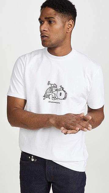 A.P.C. x JJJJound Rough Logo Tee
