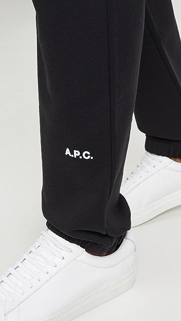 A.P.C. x JJJJound Logo Sweatpants