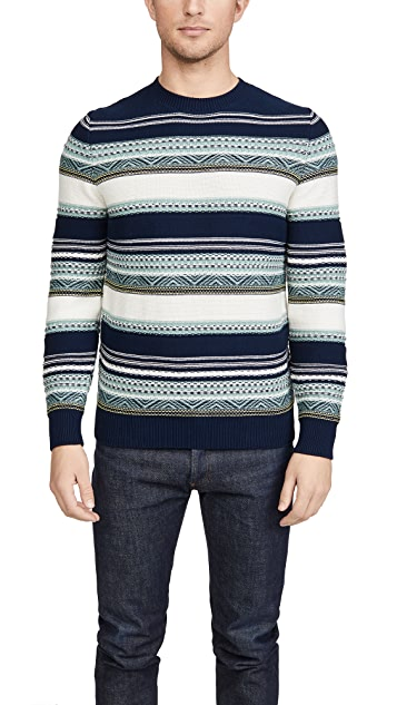A.P.C. Maxence Pullover Striped Sweater