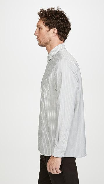 A.P.C. Long Sleeve Striped Shirt