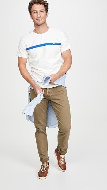 A.P.C. Logo Stripe T-Shirt