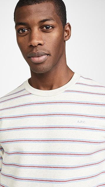 A.P.C. Multi Stripe Crew Neck Sweatshirt