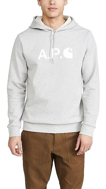 A.P.C. A.P.C. x Carhartt WIP Pullover Hoodie