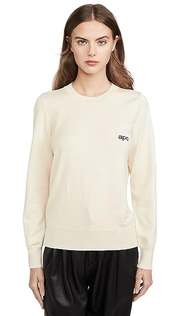 A.P.C. Пуловер с логотипом