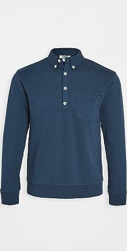 A.P.C. - x RTH Long Sleeve Polo Shirt